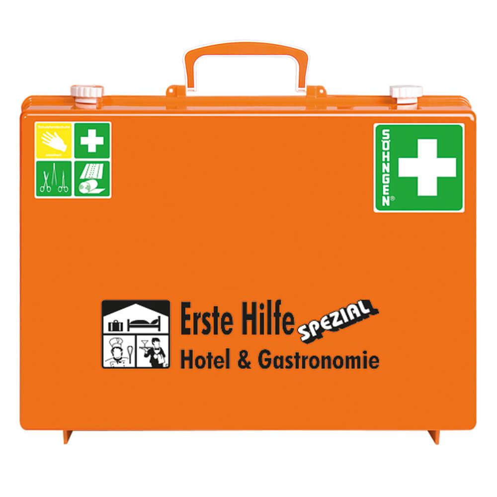 SÖHNGEN Erste-Hilfe-Koffer Hotel & Gastronomie, Wandhalterung ...