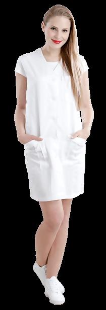 Schwester Svenja Blick nach vorne Kleid