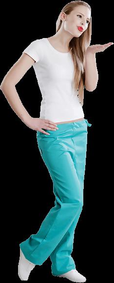 Krankenschwester Svenja grüne Hose Kuss