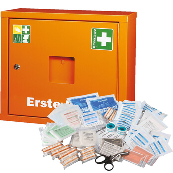soehngen sanitaetswandschrank juniorsafe weiss und orange front orange