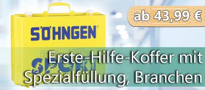 Erste-Hilfe-Koffer mit branchenspezifischer Spezialfüllung