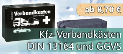 Kfz-Verbandkästen nach DIN 13164 und GGVS
