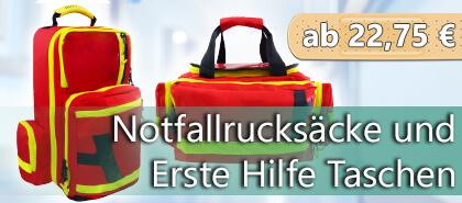 Notfallrucksäcke und Erste-Hilfe-Taschen