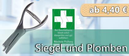 Siegel & Sicherheitsplomben für Verbandkästen