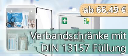 Verbandschränke nach DIN 13157